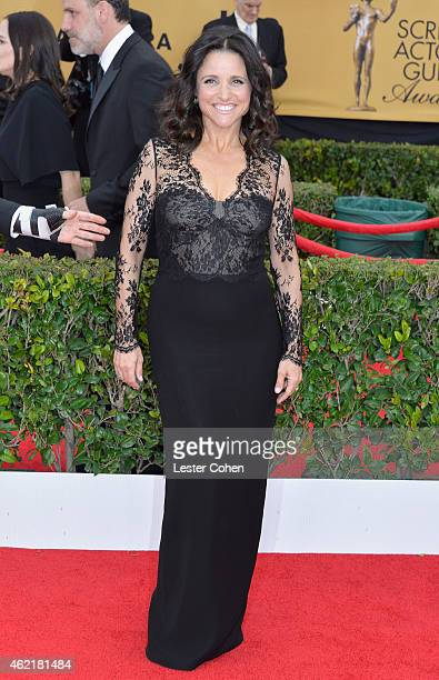 Actress Julia LouisDreyfus attends the 21st Annual Screen Actors Guild Awards at The Shrine Auditorium on January 25 2015 in Los Angeles California
