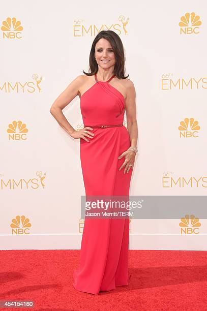 Actress Julia LouisDreyfus attends the 66th Annual Primetime Emmy Awards held at Nokia Theatre LA Live on August 25 2014 in Los Angeles California