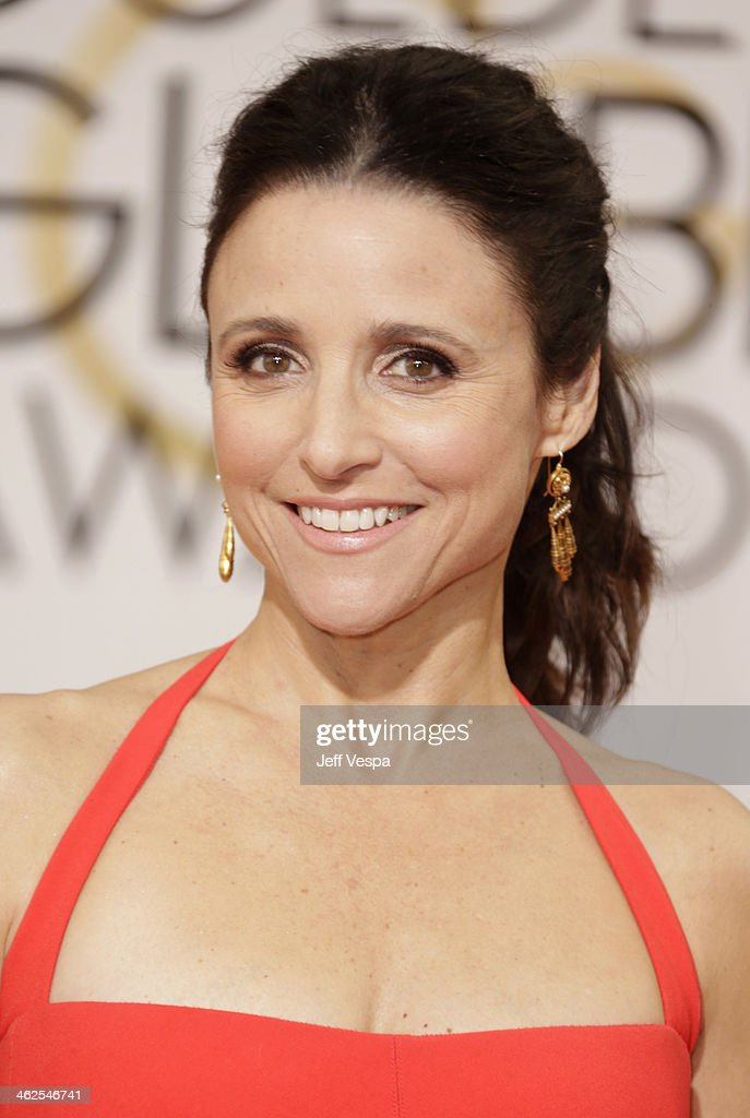 Actress Julia LouisDreyfus attends the 71st Annual Golden Globe Awards held at The Beverly Hilton Hotel on January 12 2014 in Beverly Hills California