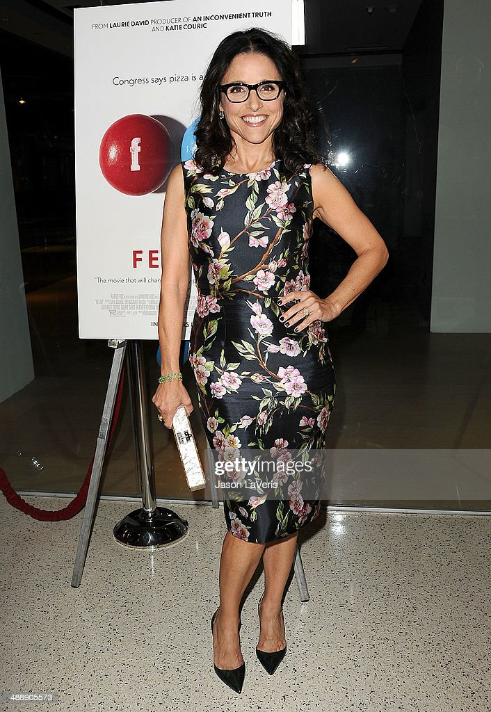 Actress Julia Louis-Dreyfus attends the premiere of 'Fed Up' at Pacfic Design Center on May 8, 2014 in West Hollywood, California.