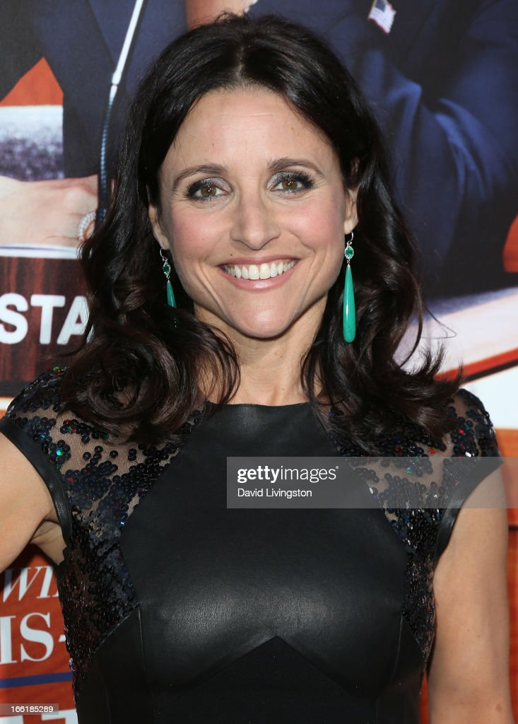 Actress Julia Louis-Dreyfus attends the premiere of HBO's 'VEEP' Season 2 at Paramount Studios on April 9, 2013 in Hollywood, California.
