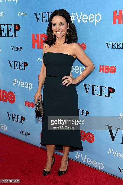 Actress Julia LouisDreyfus attends the 'VEEP' Season 4 New York Screening at the SVA Theater on April 6 2015 in New York City