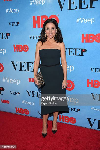 Actress Julia LouisDreyfus attends the 'VEEP' Season 4 Premiere at SVA Theater on April 6 2015 in New York City