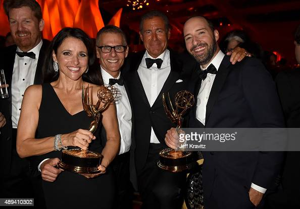 Actress Julia LouisDreyfus HBO President of Programming Michael Lombardo Chairman and CEO of HBO Richard Plepler and actor Tony Hale attend HBO's...