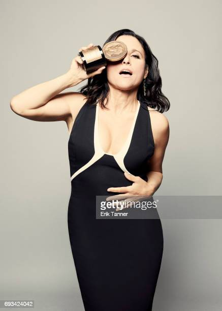 Actress Julia LouisDreyfus is photographed at the 76th Annual Peabody Awards at Cipriani Wall Street on May 20 2017 in New York City