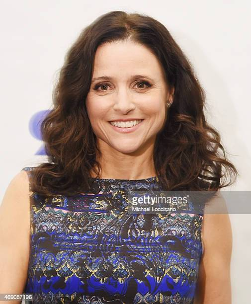 Actress Julia LouisDreyfus poses before taking part in 92nd Street Y Presents Julia LouisDreyfus in Conversation with Frank Rich at the 92nd Street Y...
