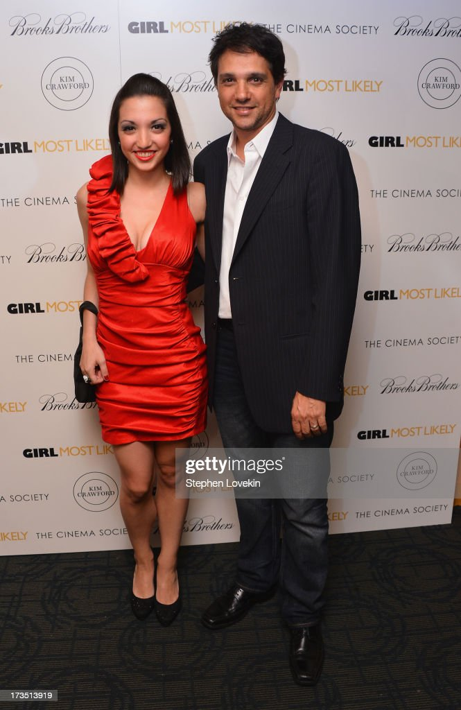 Actress Julia Macchio and father <a gi-track='captionPersonalityLinkClicked' href=/galleries/search?phrase=Ralph+Macchio&family=editorial&specificpeople=235426 ng-click='$event.stopPropagation()'>Ralph Macchio</a> attend the screening of Lionsgate and Roadside Attractions' 'Girl Most Likely' hosted by The Cinema Society & Brooks Brothers at Landmark's Sunshine Cinema on July 15, 2013 in New York City.