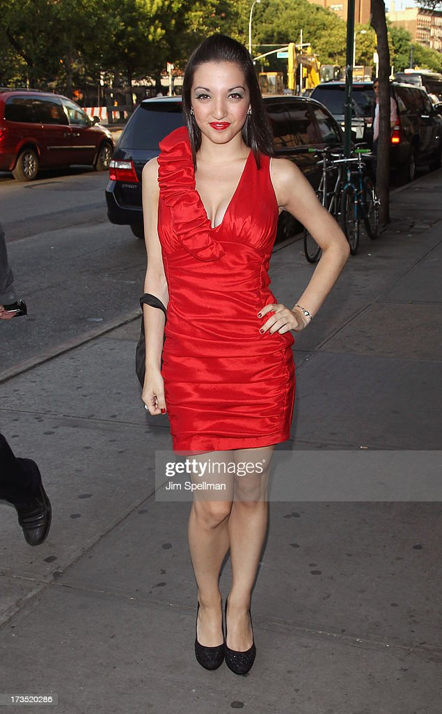 Actress Julia Macchio attends the Lionsgate And Roadside Attractions With The Cinema Society Screening Of 'Girl Most Likely' at Landmark's Sunshine Cinema on July 15, 2013 in New York City.