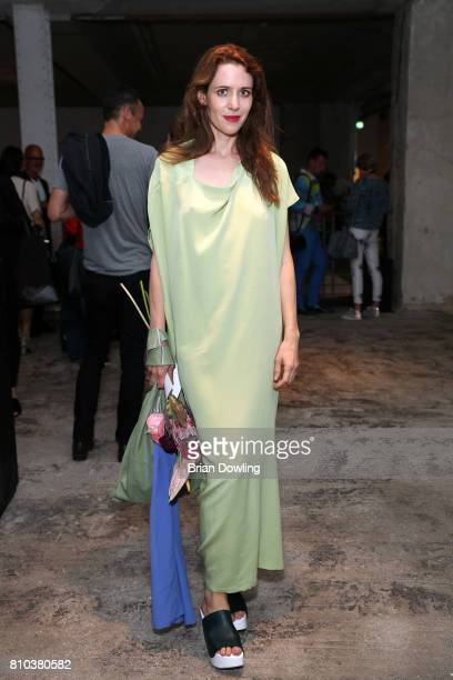 Actress Julia Malik attends the Michael Sontag show during the MercedesBenz Fashion Week Berlin Spring/Summer 2018 at Kaufhaus Jandorf on July 7 2017...