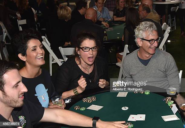 Actress Julia Ormond and writer Ed Solomon attend the 3rd Annual Poker Tournament Benefiting LA Diaper And Baby Buggy on September 27 2014 in...