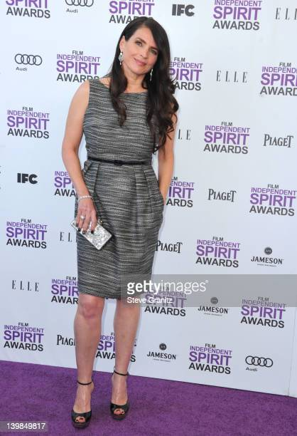 Actress Julia Ormond arrives at the 2012 Film Independent Spirit Awards at Santa Monica Pier on February 25 2012 in Santa Monica California