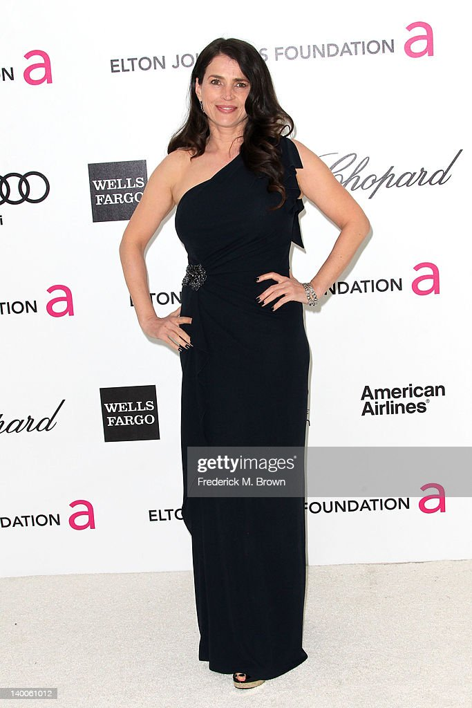 Actress Julia Ormond arrives at the 20th Annual Elton John AIDS Foundation's Oscar Viewing Party held at West Hollywood Park on February 26, 2012 in West Hollywood, California.