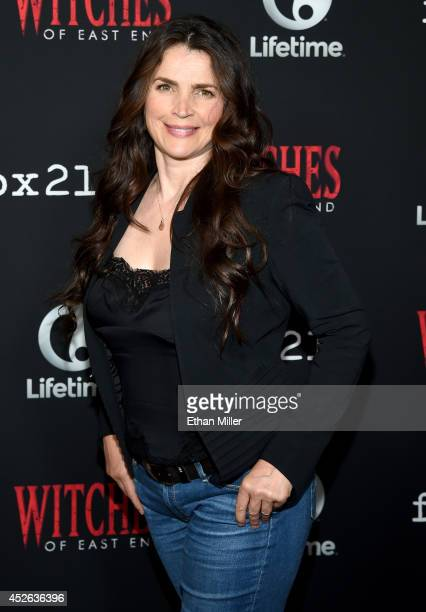 Actress Julia Ormond attends the 'Witches of East End' season two premiere during ComicCon International 2014 at The Tipsy Crow on July 24 2014 in...