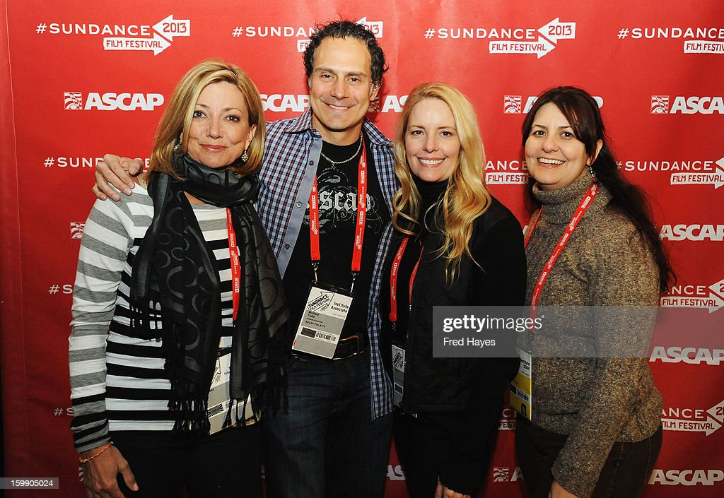 Actress Julia Parker, Sr. Director of Film & Television Music at ASCAP Michael Todd, Linda Kruse and Film Forward Manager at Sundance Institute Jacqueline Carlson attend the ASCAP Composer Filmmaker Cocktail Party at ASCAP Music Cafe during the 2013 Sundance Film Festival on January 22, 2013 in Park City, Utah.