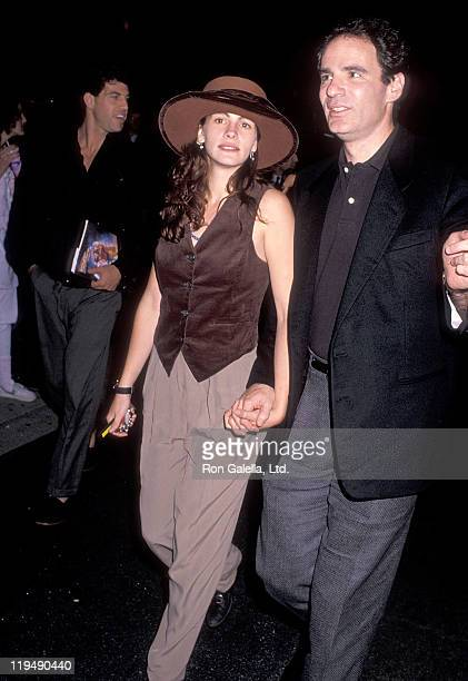 Actress Julia Roberts and Alan Greisman attend the 'Back to the Future Part II' Universal City Premiere on November 20 1989 at Cineplex Odeon...