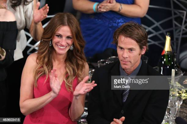 Actress Julia Roberts and Daniel Moder attend 20th Annual Screen Actors Guild Awards at The Shrine Auditorium on January 18 2014 in Los Angeles...