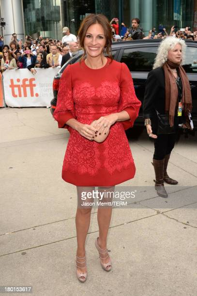 Actress Julia Roberts arrives at the 'August Osage County' Premiere during the 2013 Toronto International Film Festival at Roy Thomson Hall on...