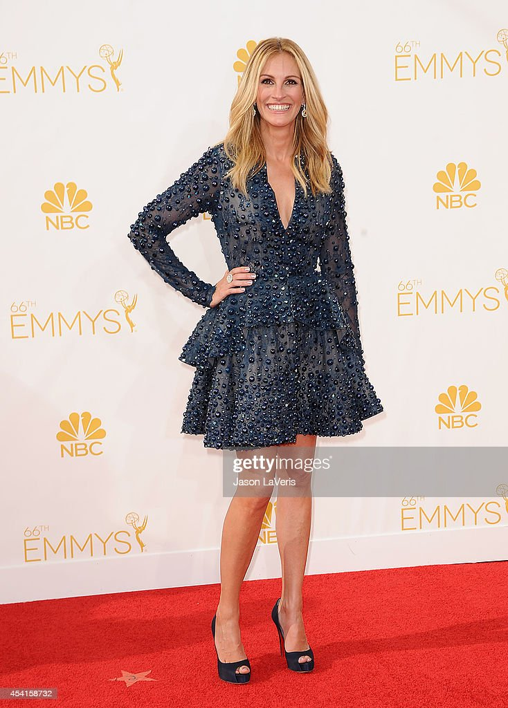 Actress <a gi-track='captionPersonalityLinkClicked' href=/galleries/search?phrase=Julia+Roberts&family=editorial&specificpeople=202605 ng-click='$event.stopPropagation()'>Julia Roberts</a> attends the 66th annual Primetime Emmy Awards at Nokia Theatre L.A. Live on August 25, 2014 in Los Angeles, California.