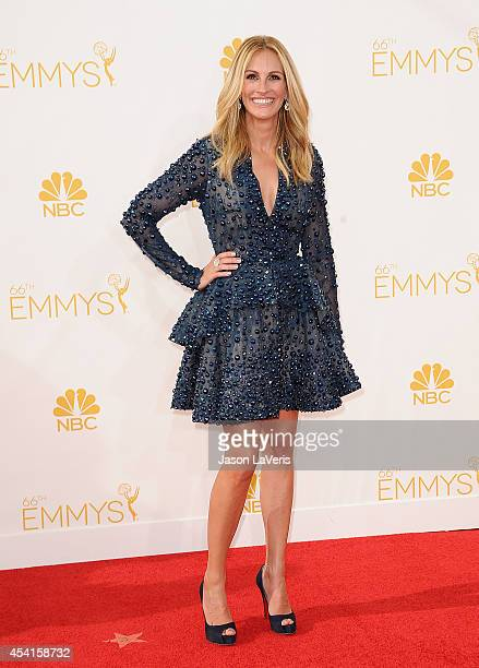 Actress Julia Roberts attends the 66th annual Primetime Emmy Awards at Nokia Theatre LA Live on August 25 2014 in Los Angeles California