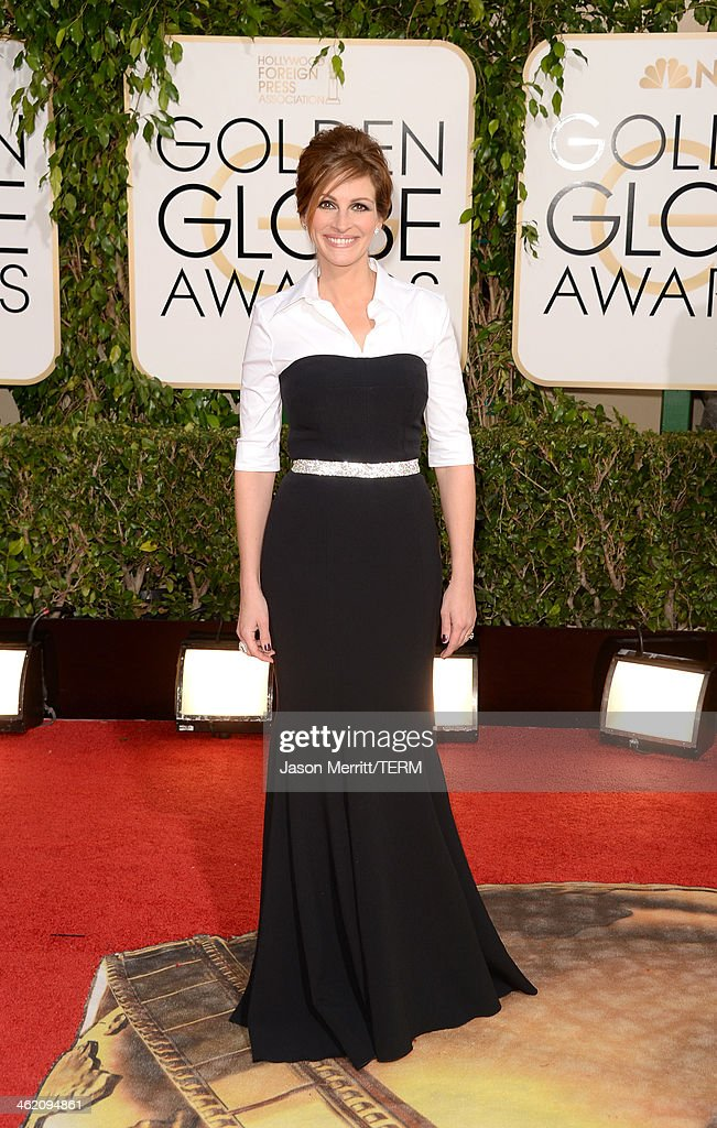 Actress Julia Roberts attends the 71st Annual Golden Globe Awards held at The Beverly Hilton Hotel on January 12 2014 in Beverly Hills California