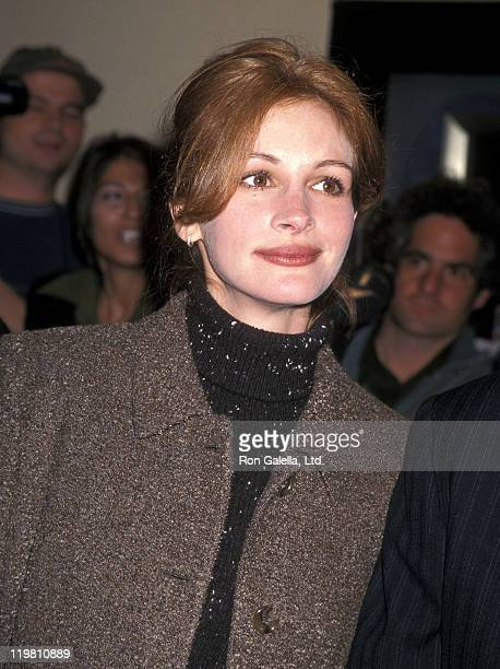 Actress Julia Roberts attends the 'Albino Alligator' Westwood Premiere on January 14 1997 at Mann Bruin Theatre in Westwood California
