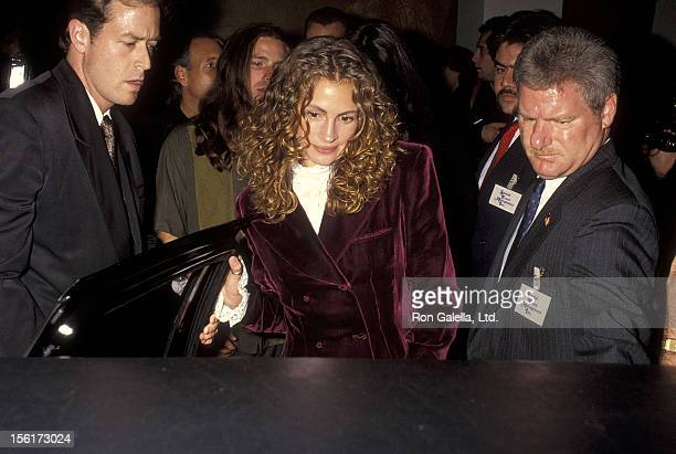 Actress Julia Roberts attends the 'Bob Roberts' Beverly Hills Premiere on September 1 1992 at the WGA Theatre in Beverly Hills California