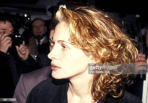 Actress Julia Roberts attends the Fall 1994 Fashion Week Todd Oldham Fashion Show on April 7 1994 at Bryant Park in New York City