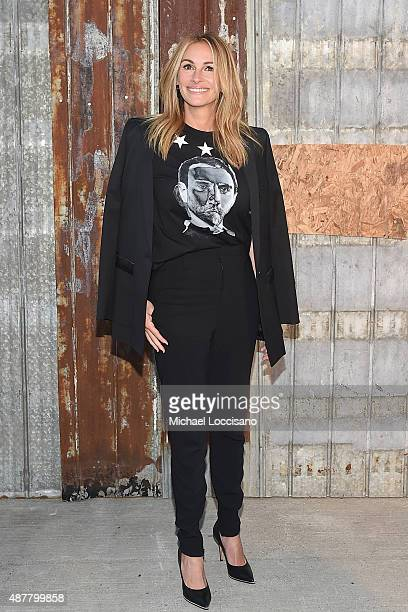 Actress Julia Roberts attends the Givenchy fashion show during Spring 2016 New York Fashion Week at Pier 26 at Hudson River Park on September 11 2015...
