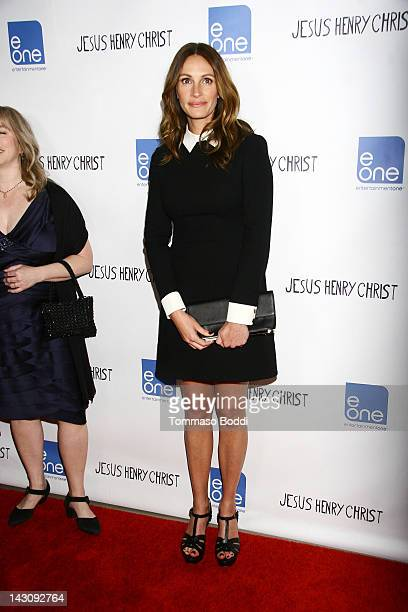 Actress Julia Roberts attends the 'Jesus Henry Christ' Los Angeles Premiere held at the Mann Chinese 6 on April 18 2012 in Los Angeles California