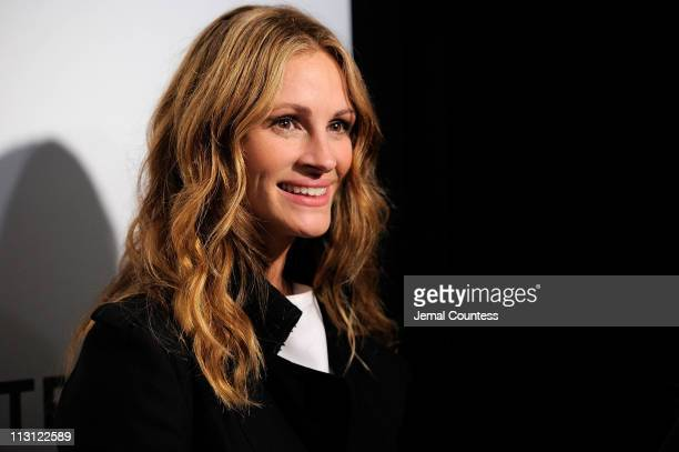 Actress Julia Roberts attends the premiere of 'Jesus Henry Christ' during the 2011 Tribeca Film Festival at BMCC Tribeca PAC on April 23 2011 in New...