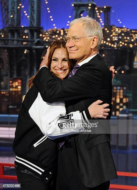 Actress Julia Roberts makes her final visit to the Late Show with David Letterman Wednesday May 13 2015 on the CBS Television Network