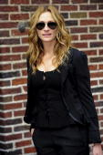 Actress Julia Roberts visits the 'Late Show With David Letterman' at Ed Sullivan Theater on June 9 2009 in New York City