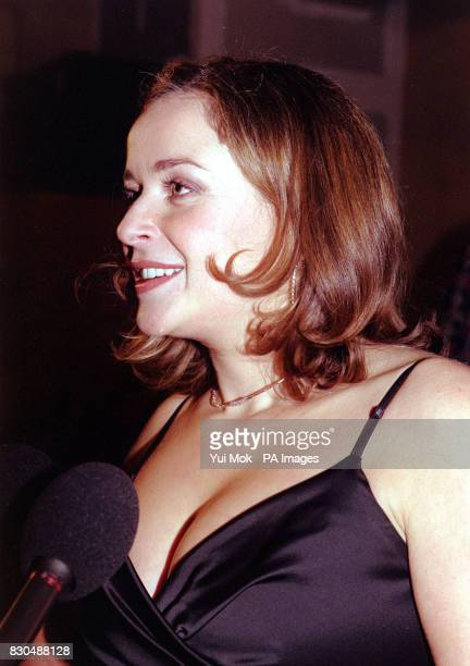Actress Julia Sawalha being interviewed at the inaugral BBC Two Awards held at The Gainsborough Film Studios in London 18/05/02 Absolutely Fabulous...
