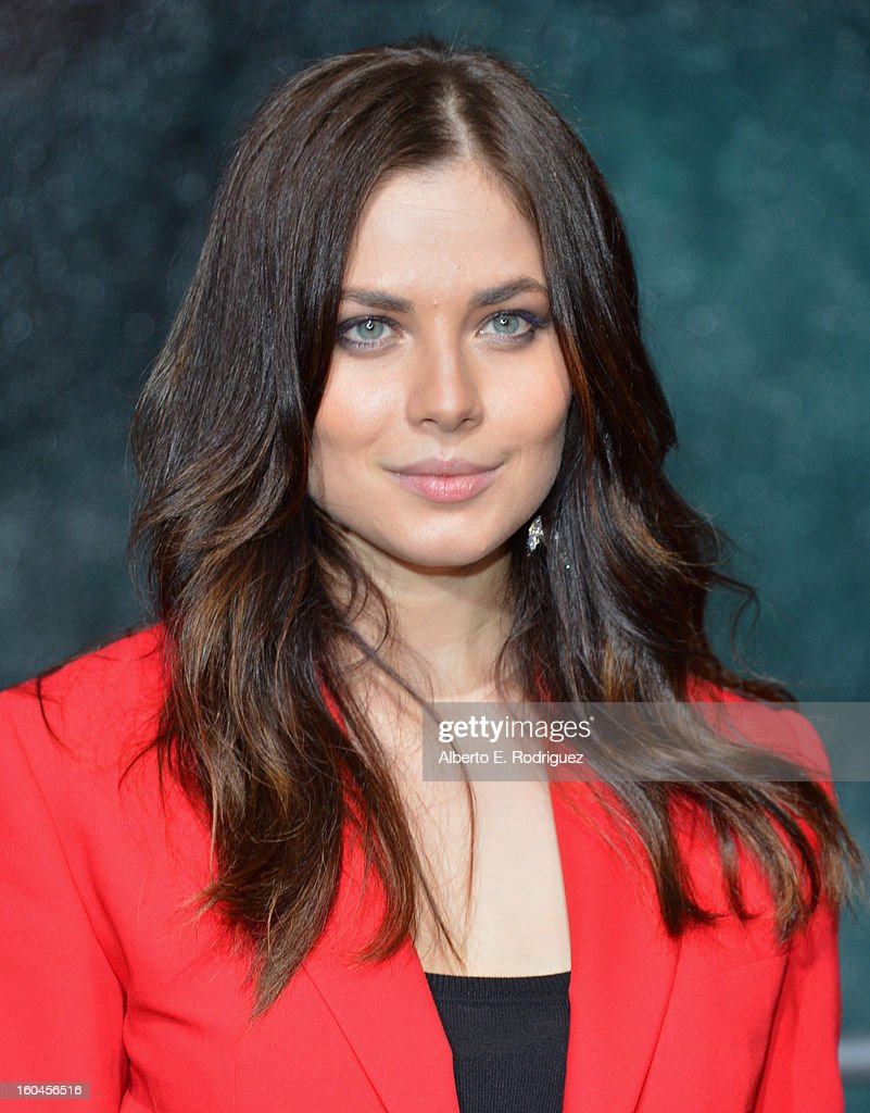 Actress Julia Snigir attends the dedication and unveiling of a new soundstage mural celebrating 25 years of 'Die Hard' at Fox Studio Lot on January 31, 2013 in Century City, California.