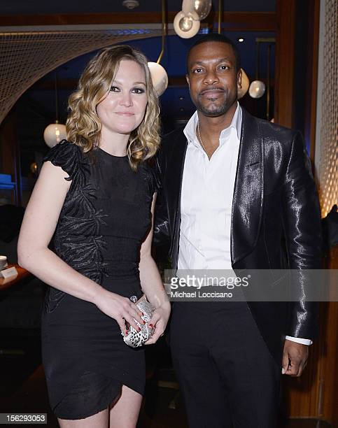 Actress Julia Stiles and Chris Tucker attend the Tribeca Teaches Benefit 'Silver Linings Playbook' Premiere After Party at The Royalton Hotel on...