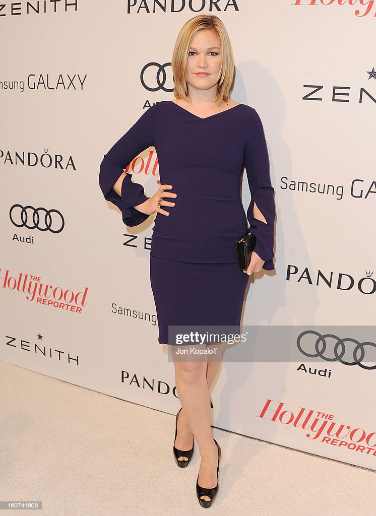 Actress Julia Stiles arrives at The Hollywood Reporter Nominees' Night 2013 Celebrating 85th Annual Academy Award Nominees at Spago on February 4, 2013 in Beverly Hills, California.