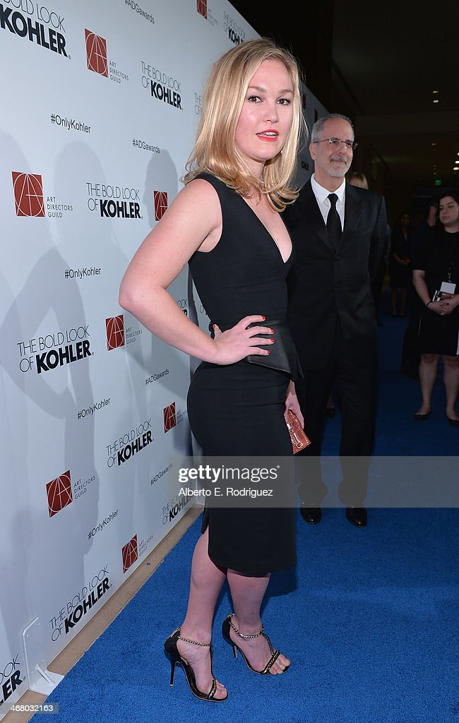 Actress <a gi-track='captionPersonalityLinkClicked' href=/galleries/search?phrase=Julia+Stiles&family=editorial&specificpeople=202217 ng-click='$event.stopPropagation()'>Julia Stiles</a> arrives to the 18th Annual Art Directors Guild Exellence In Production Design Awards at The Beverly Hilton Hotel on February 8, 2014 in Beverly Hills, California.
