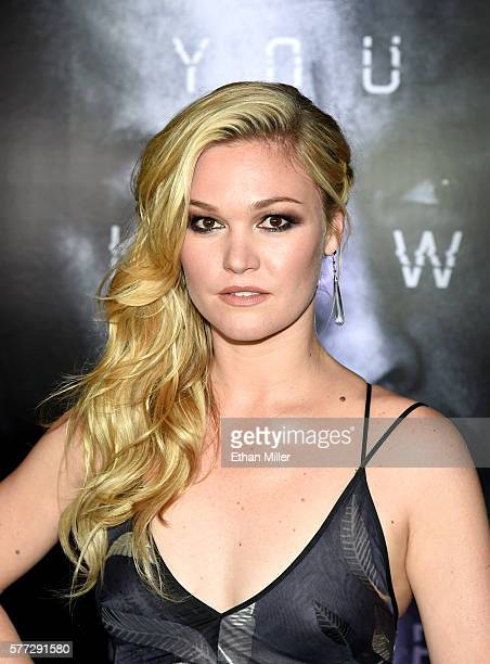 Actress Julia Stiles attends the premiere of Universal Pictures' 'Jason Bourne' at The Colosseum at Caesars Palace on July 18 2016 in Las Vegas Nevada