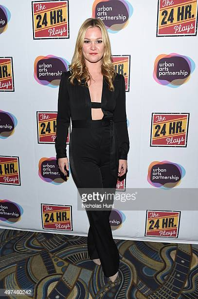 Actress Julia Stiles attends Urban Arts Partnership at the 15th annual The 24 Hour Plays On Broadway after party at BB King on November 16 2015 in...