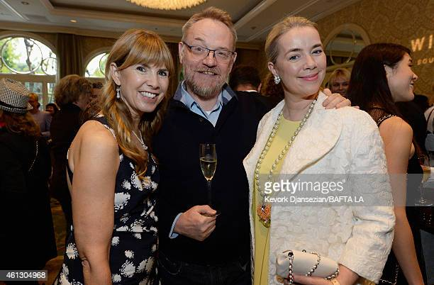 Actress Julia Verdin actor Jared Harris and Brand Director at Mulberry AnneMarie Verdin attend the BAFTA Los Angeles Tea Party at The Four Seasons...