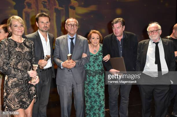 Actress Julia Vysotskaya Simon Verhoeven Andrei Konchalovsky Elisabeth WickiEndriss Aki Kaurismaeki and David Witzthum attend the Bernhard Wicki...