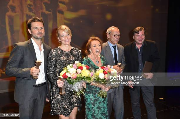 Actress Julia Vysotskaya Simon Verhoeven Andrei Konchalovsky Elisabeth WickiEndriss and Aki Kaurismaeki attend the Bernhard Wicki Award 2017 during...
