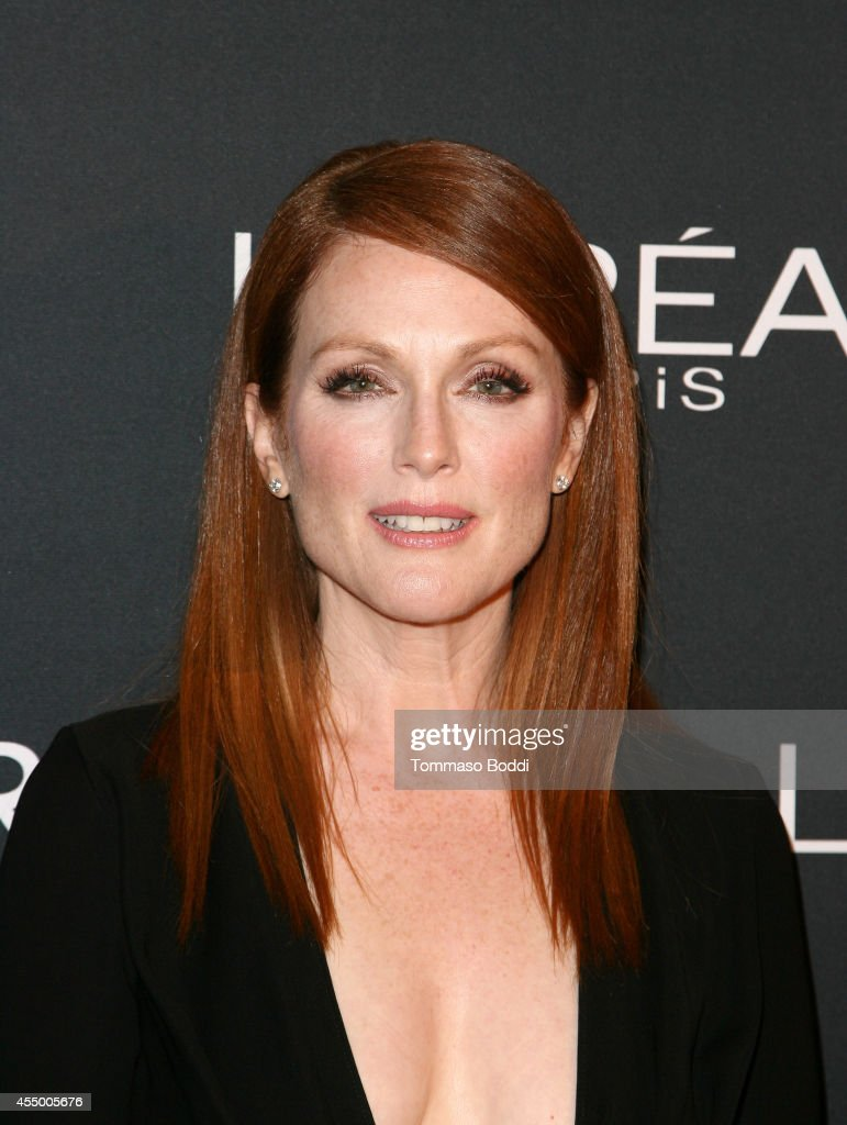 Actress Juliane Moore prepares with L'Oreal for the 'Still Alice' Premiere during the 2014 Toronto International Film Festival at the ShangriLa Hotel...