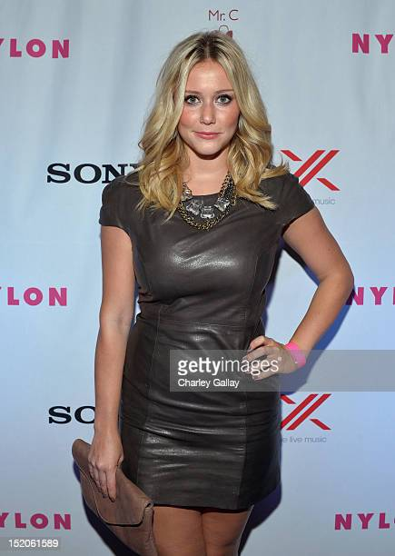 Actress Julianna Guill arrives at the NYLON and Sony X Headphones September TV issue launch event with cover star Lea Michele at Mr C Beverly Hills...