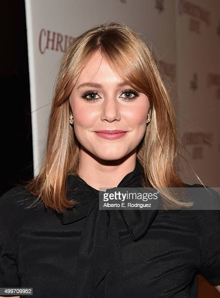 Actress Julianna Guill attends the premiere of 'Christmas Eve' at ArcLight Hollywood on December 2 2015 in Hollywood California