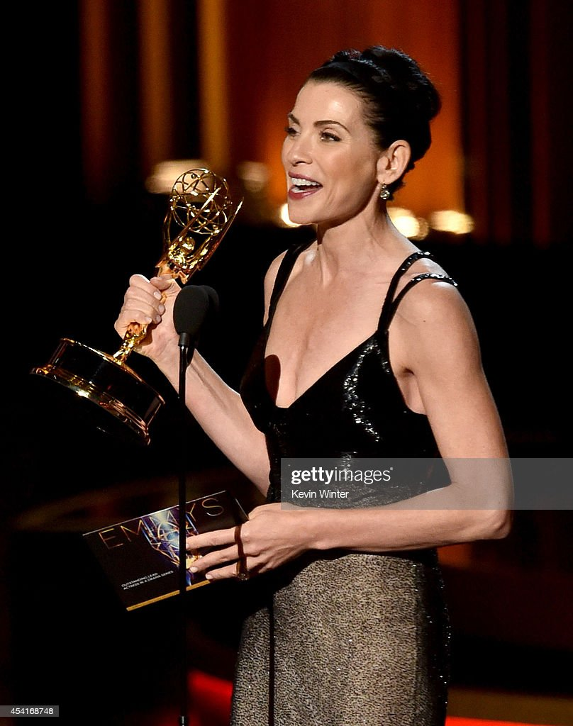 Actress Julianna Margulies accepts Outstanding Lead Actress in a Drama Series for 'The Good Wife' onstage at the 66th Annual Primetime Emmy Awards held at Nokia Theatre L.A. Live on August 25, 2014 in Los Angeles, California.