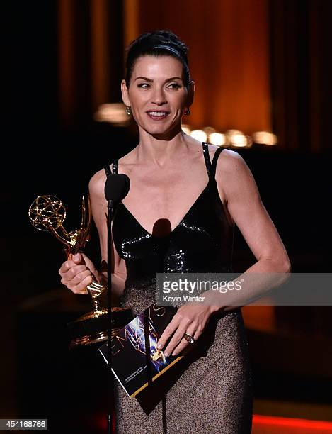 Actress Julianna Margulies accepts Outstanding Lead Actress in a Drama Series for 'The Good Wife' onstage at the 66th Annual Primetime Emmy Awards...