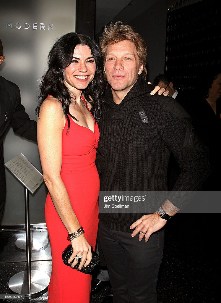 Actress Julianna Margulies and actor/singer Jon Bon Jovi attend The Cinema Society With Chrysler & Bally premiere of 'Stand Up Guys' at Museum of Modern Art on December 9, 2012 in New York City.