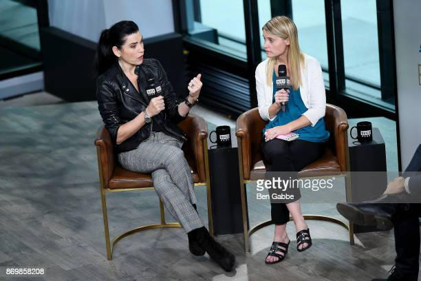 Actress Julianna Margulies and author/activist Erin Merryn visit the Build Series to discuss Erin's Law at Build Studio on November 3 2017 in New...