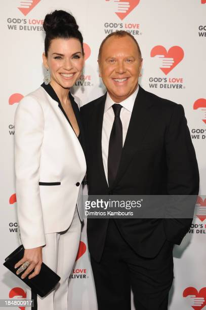 Actress Julianna Margulies and Designer Michael Kors attend God's Love We Deliver 2013 Golden Heart Awards Celebration at Spring Studios on October...